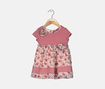 Baby Girls Rose Striped Floral Dress, Ros