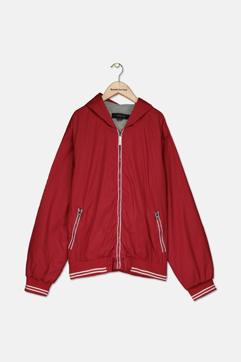 Big Boys Jacket, Red Light/Heather Grey