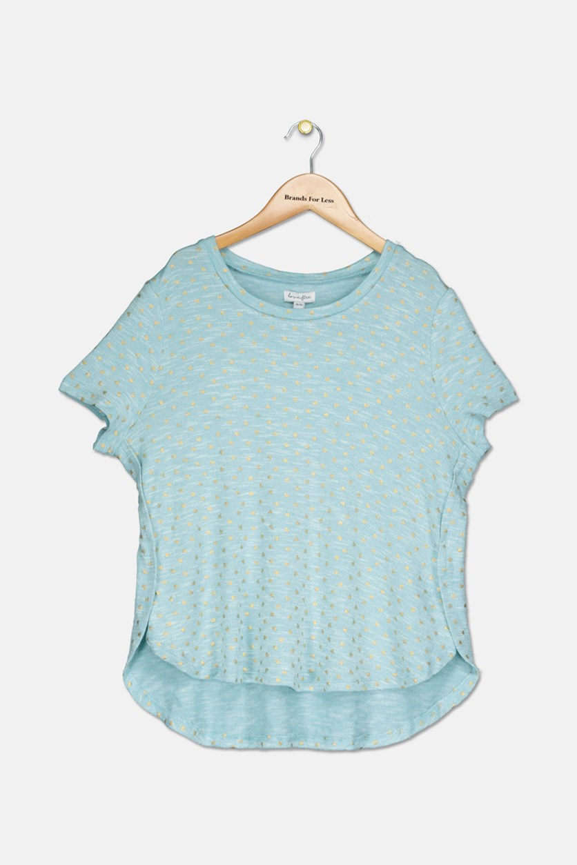 Big Girls Star-Print Top, Angel Blue