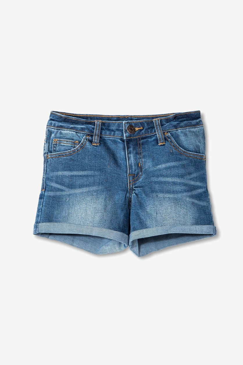 Girls' Low Rise Jean Short, Vivienne Wash