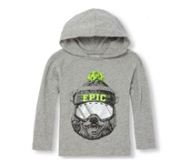 The Children's Place Boy's Hoodie Top, Grey