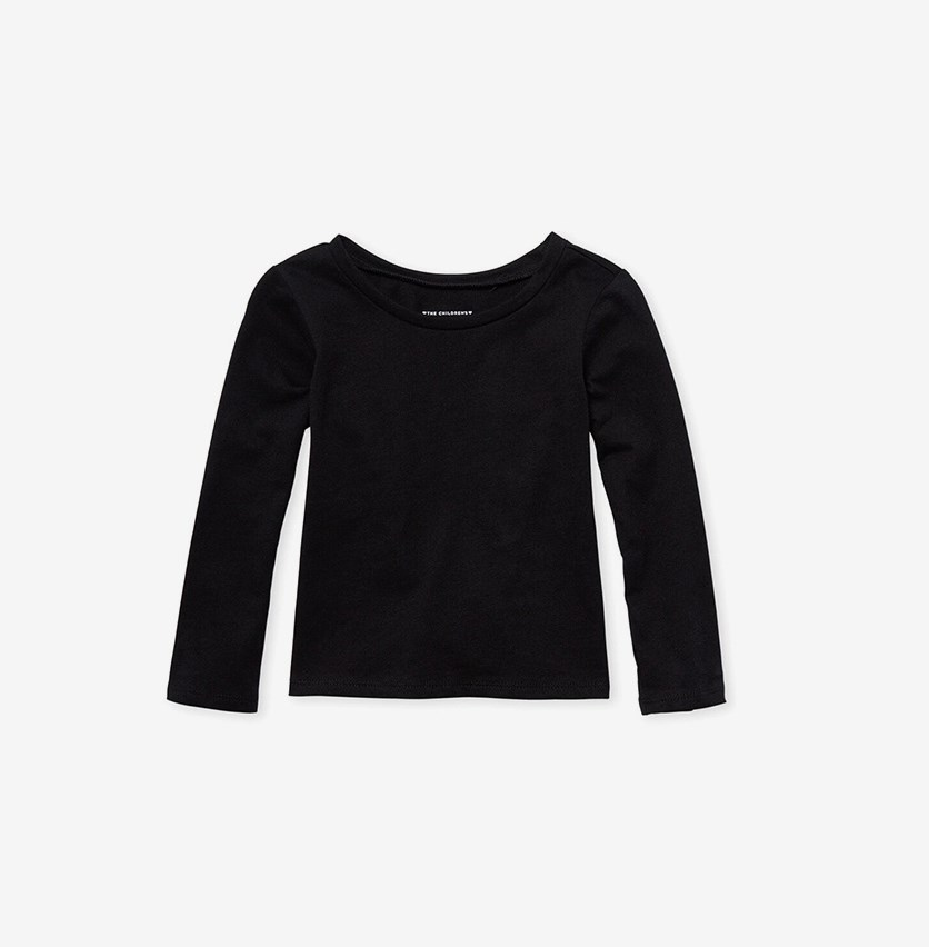 The Children Place Baby Girl Top, Black