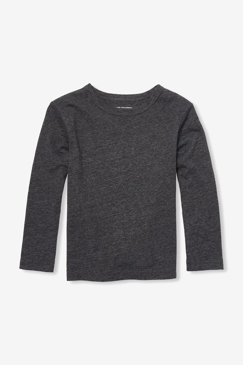 Toddlers Long Sleeve Tops, Charcoal