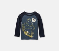 The Children's Place Long Steeve Printed Tops, Sargasso Sea