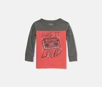 Little Boys Graphic Tee, Mineral Red