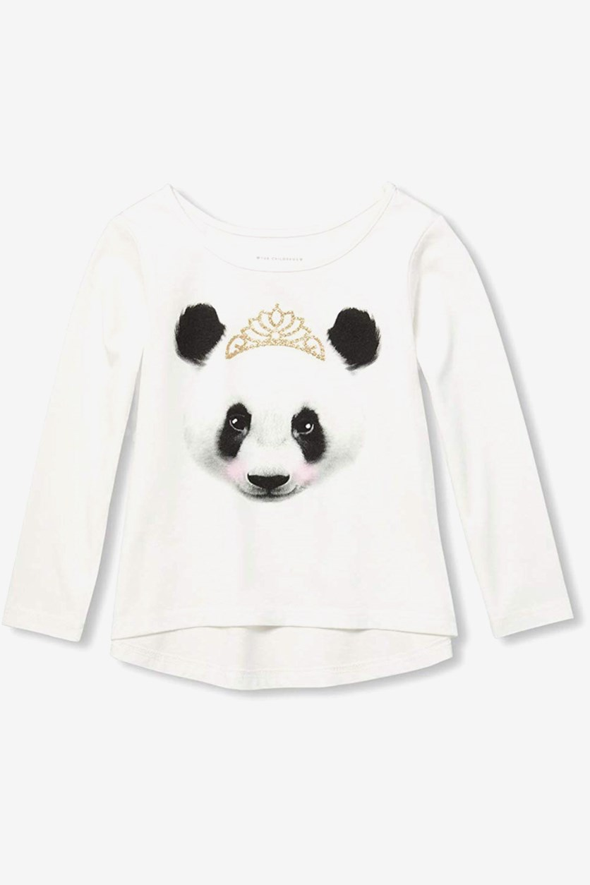 Baby-Girls Long Sleeve Graphic Tee Shirt, White