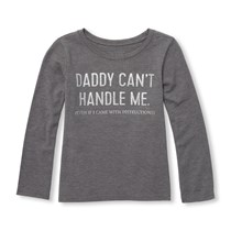 Toddler Graphic Shirt, Charcoal