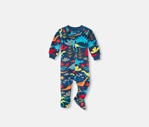 The Children's Place Baby Overall Sleepwear, Navy Peony