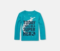 The Children's Place Baby Long Sleeve Top, Teal Garden