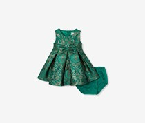 The Children's Place Baby Metallic Printed Dress, Garden Stroll