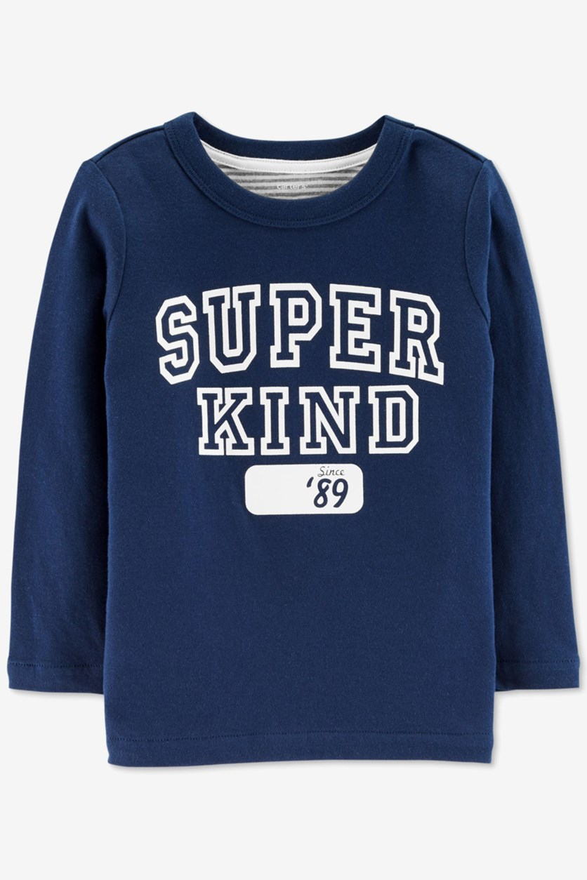 Baby Boy's Double Knit T-Shirt, Navy