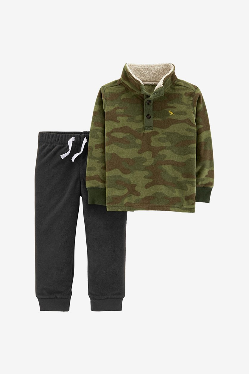 Toddlers 2-pc. Camouflage Sweatshirt & Pants Set, Green/Gray