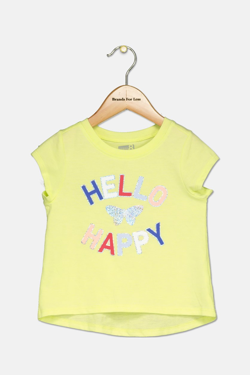 Little Girl's Ptinted Top, Lime