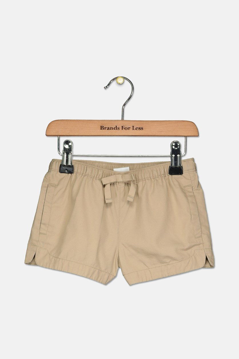 Toddler Girls Pull-On Woven Shorts, Tan