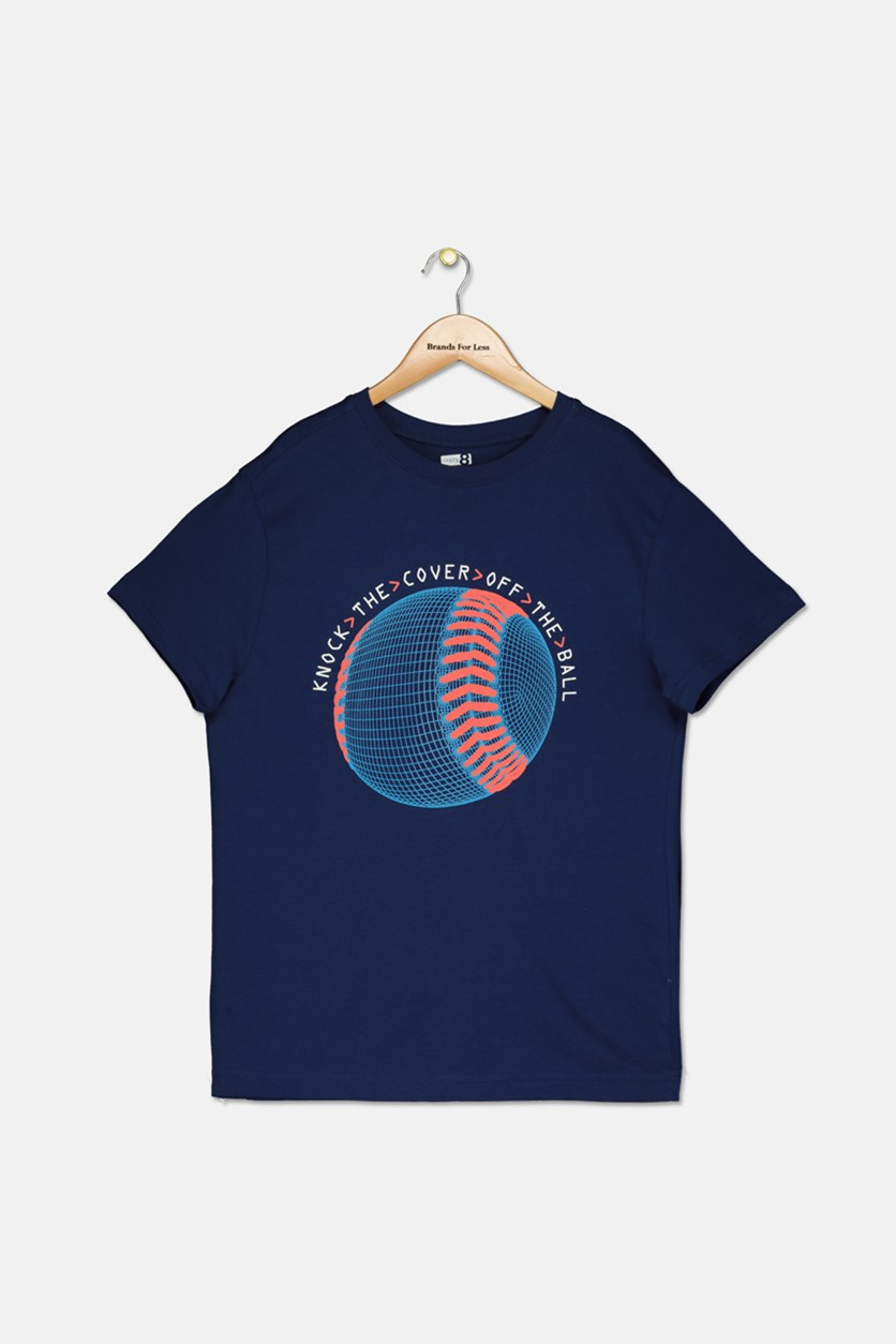 Big Boys Ball Graphic T-Shirt, Navy