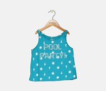 Little Girl's Graphic Printed Tank, Blue