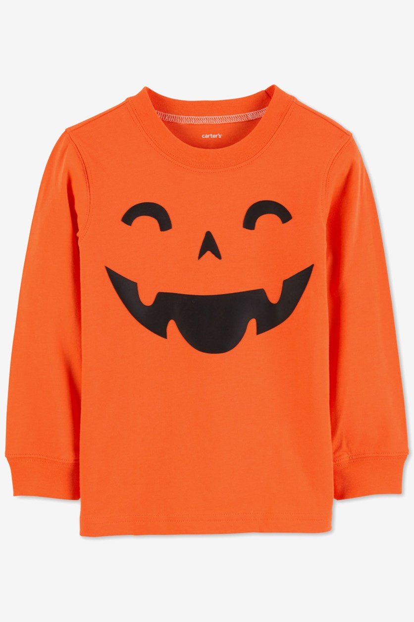Carter's Toddler Boys' Halloween Pumpkin Tee, Orange