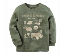 Carter's Baby Boy's Graphic T-Shirt, Olive