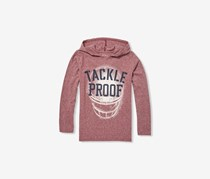 The Children's Place Boys' Hooded Graphic Shirt, Redwood Heather