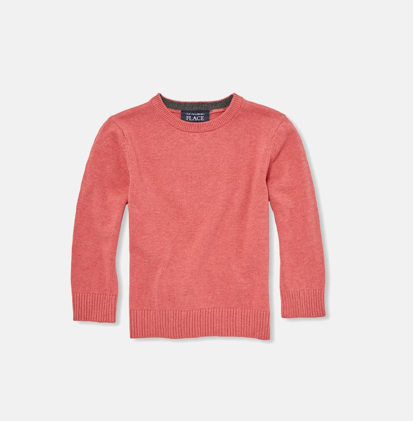 Long Sleeve Knitted Tops, Heather Pink