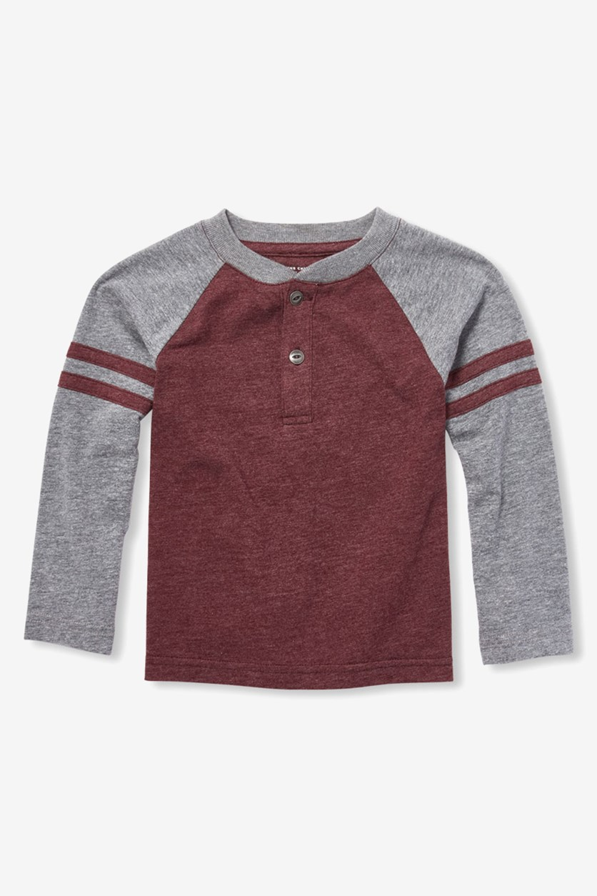 Toddler Boys Long Sleeve Shirt, Red Wood