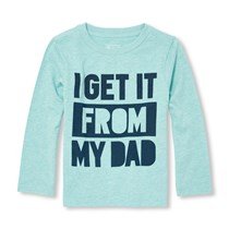 Toddler Graphic Shirt, Frost Blue