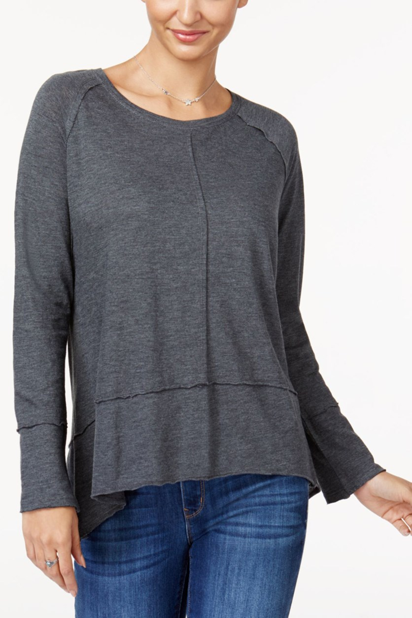 High-Low Top, Charcoal Heather