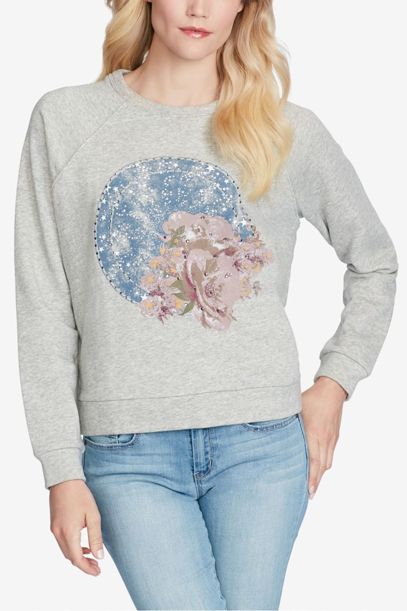 Women's Graphic Shooting Star Sweatshirt, Grey