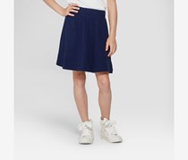 Girl's Knit Uniform Skater Scooter, Blue