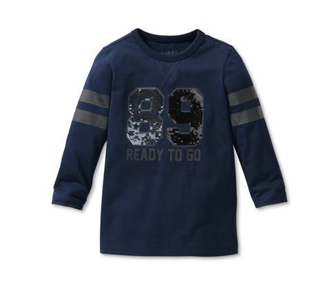 Boy's Reversible Sequins Shirt, Navy