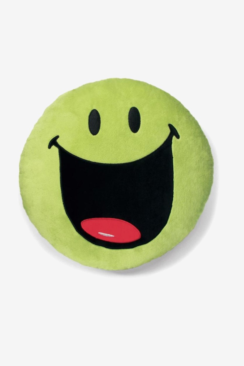 Cushion SmileyWorld Round Plush, Green