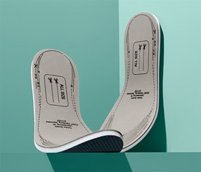 1 Pair Of Shock Absorbing Insoles, Grey