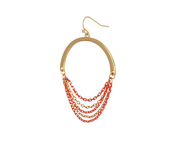 Kenneth Cole Women's Drop Earring, Red/Gold