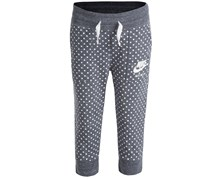 Nike Girl's Dot-Print Capri Pants, Gray