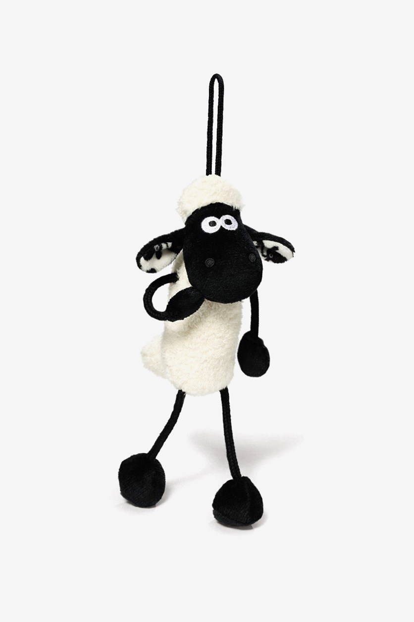 Shaun The Sheep Plush Toy With Loop, White/Black