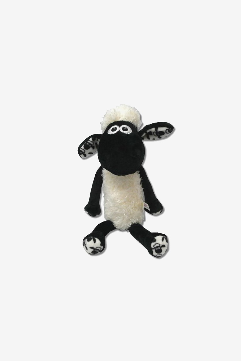 Shaun The Sheep Soft Toy, White/Black