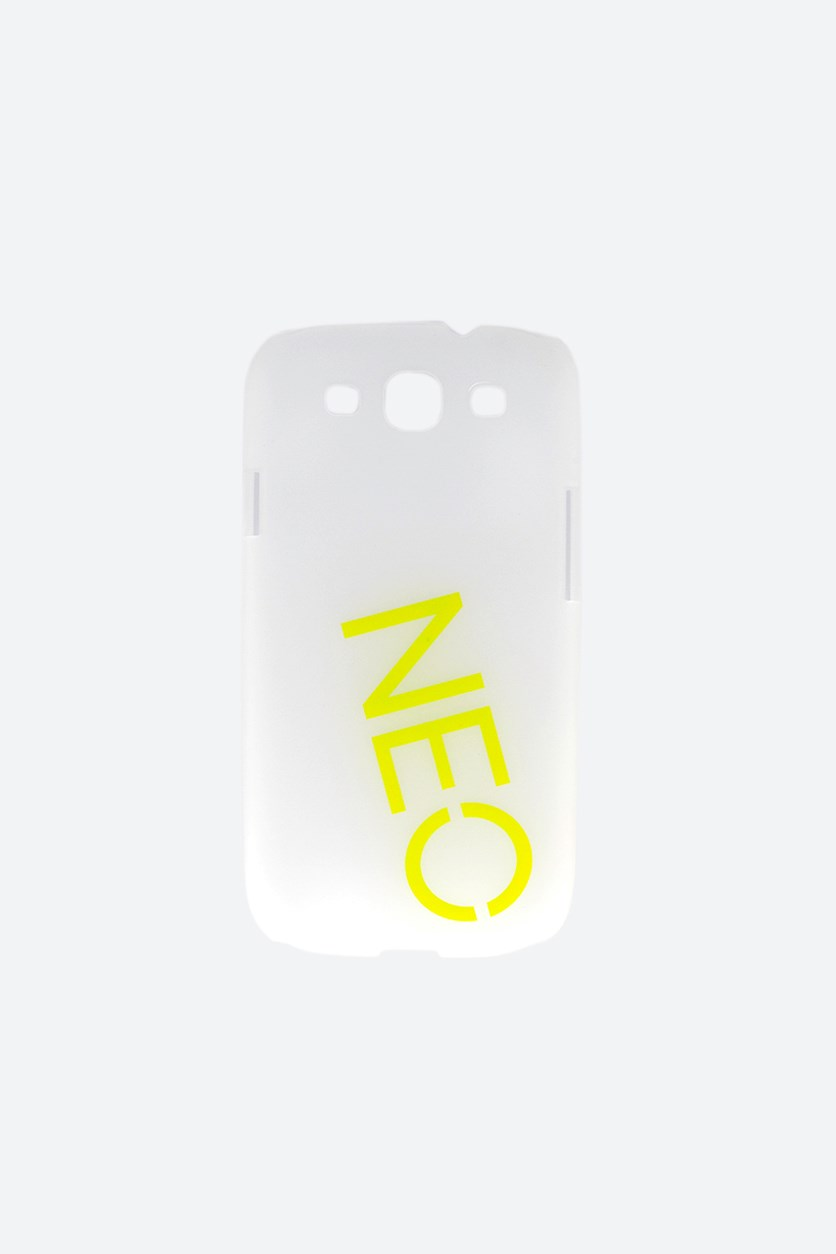 Neo Samsung Galaxy SIII Smart Phone Case, Transparent/Lime