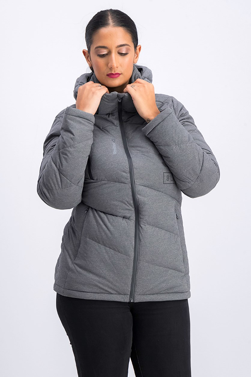 Women's OS Stretch Waterproof Windproof Down Jacket, Dark Grey
