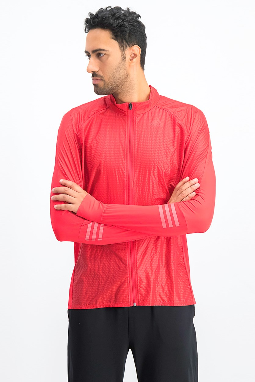 Men's Adizero Running Jacket, Red