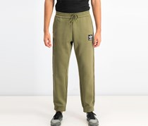 Men Brand Ripstop Pants, Olive