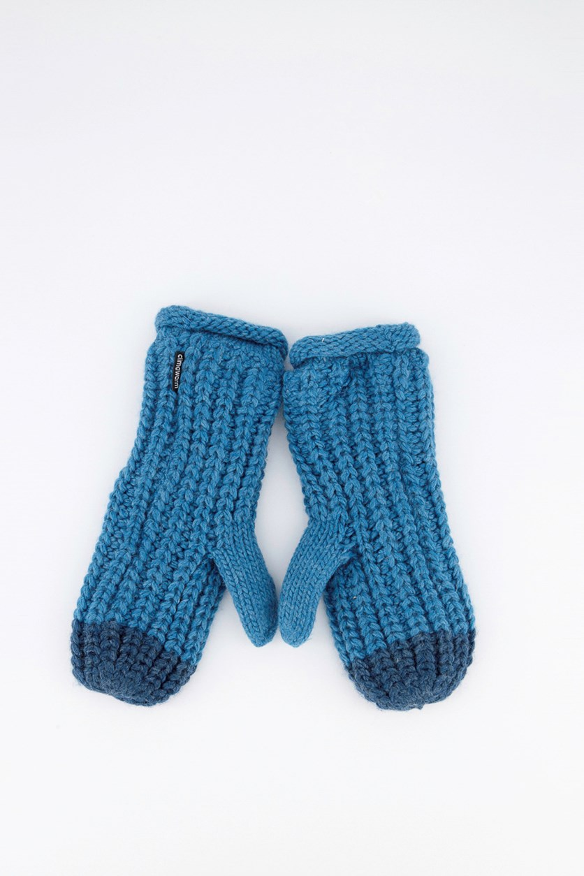 Chunky Mit Gloves, Blue