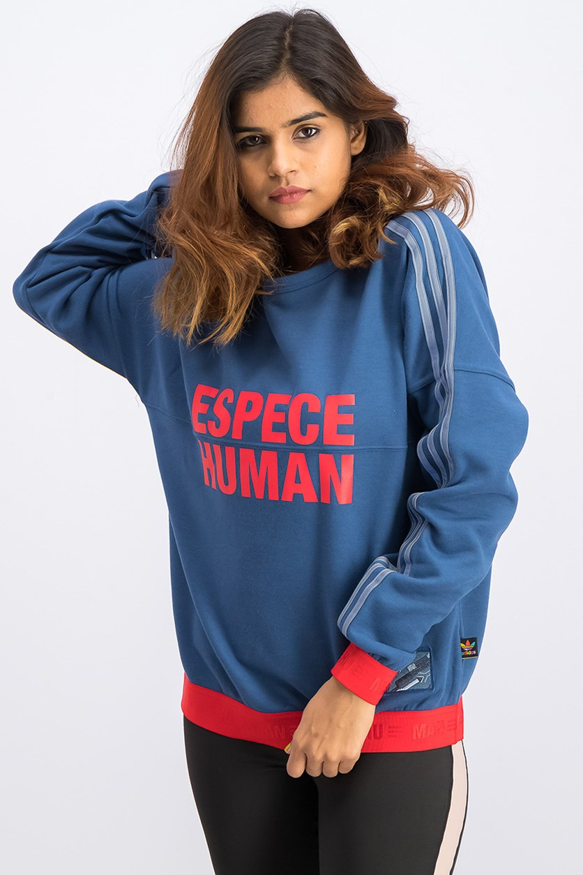 Hu Race Sweatshirt, Night Marine/Scarlet