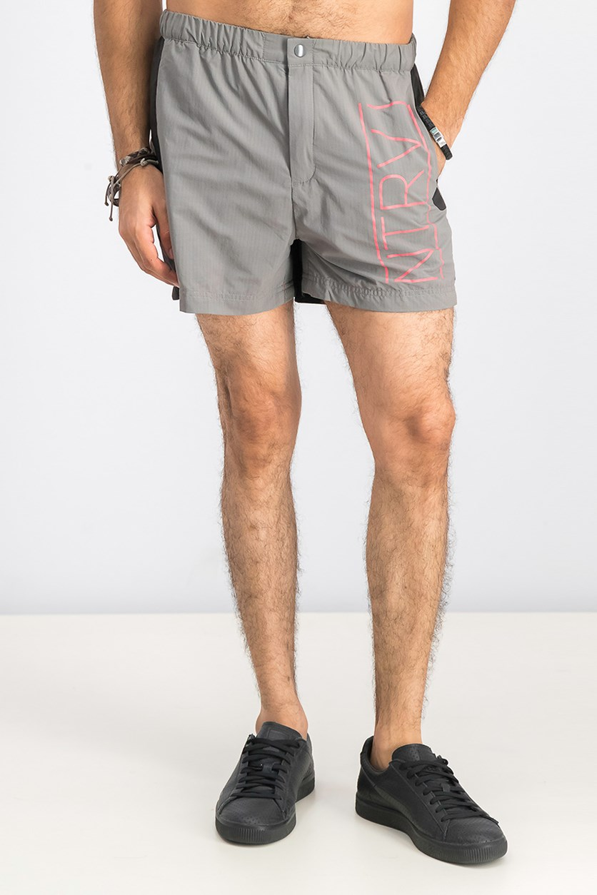 Men's Staple Shorts, Grey/Black
