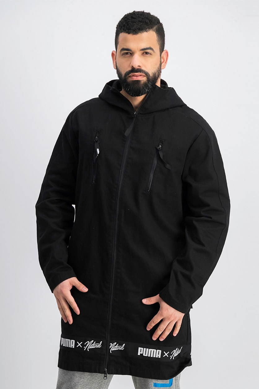 Men's Hooded Coat, Black