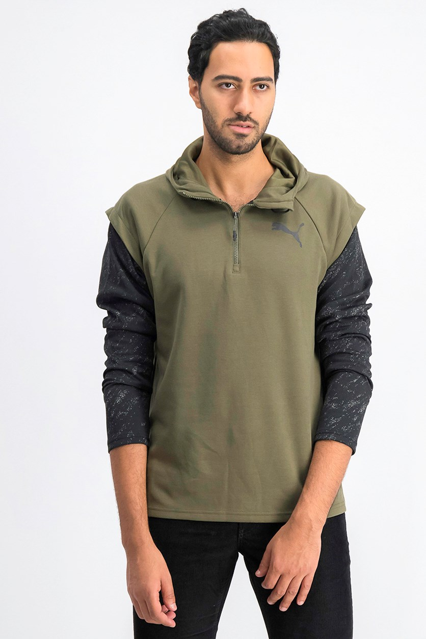 Men's 1/4 Zip Energy Hoodie, Green