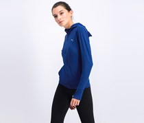 Puma Ladies Sportswear Workout Hooded Knit Jacket, Blue