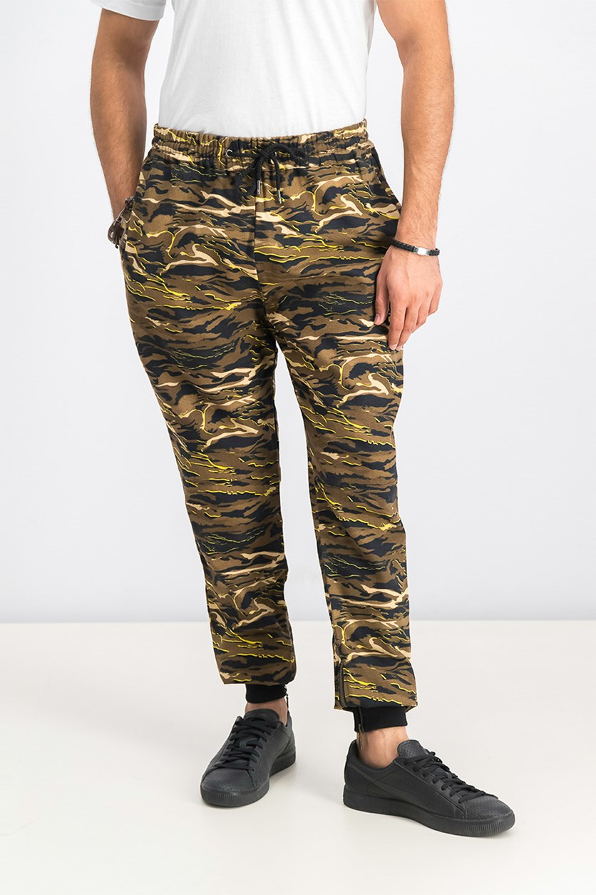 Camo Sweatpants Pants, Black/Camo
