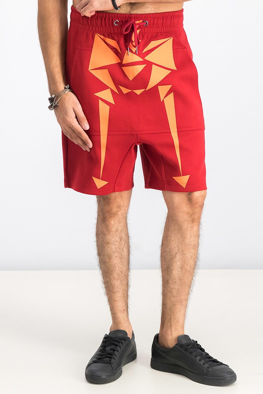 Men's Naturel Shorts, Red Dahlia