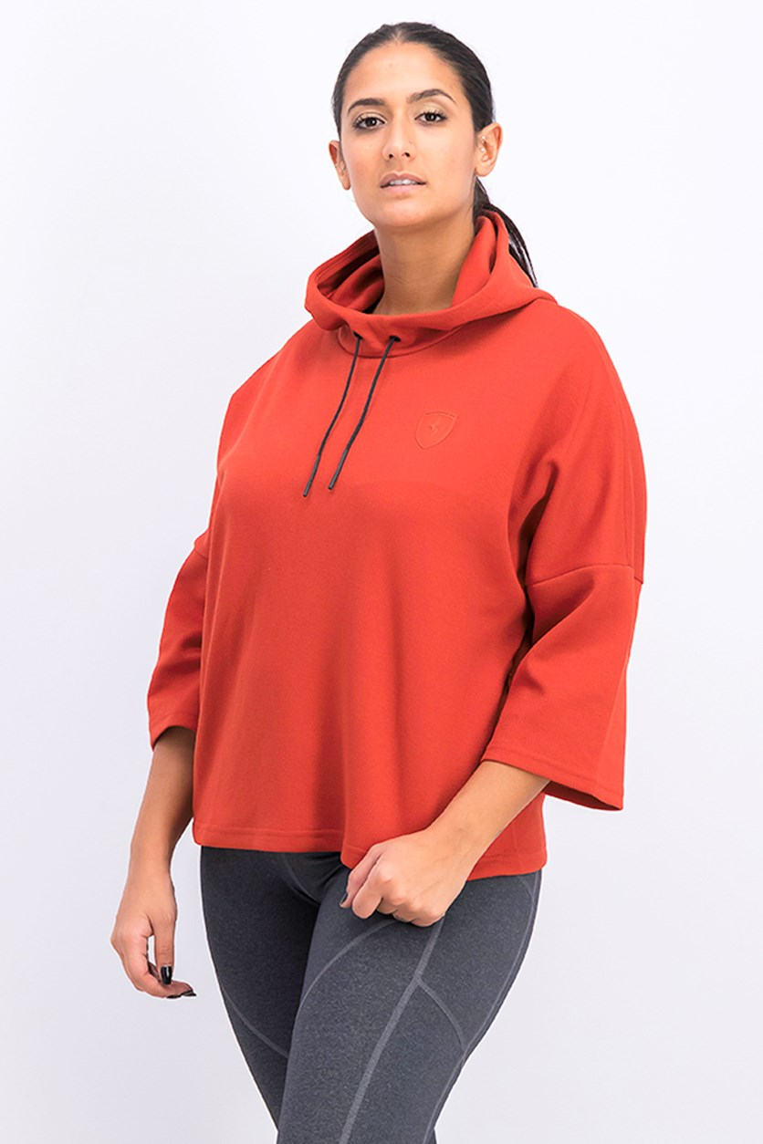 Women's Hooded Sweater, Rust