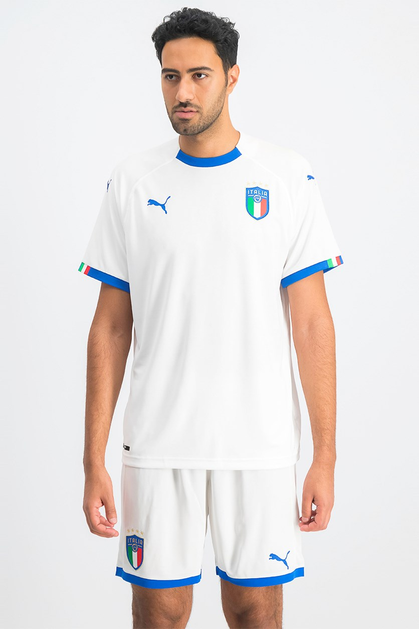 Men's Italy Away  Football Shirt, White Combo
